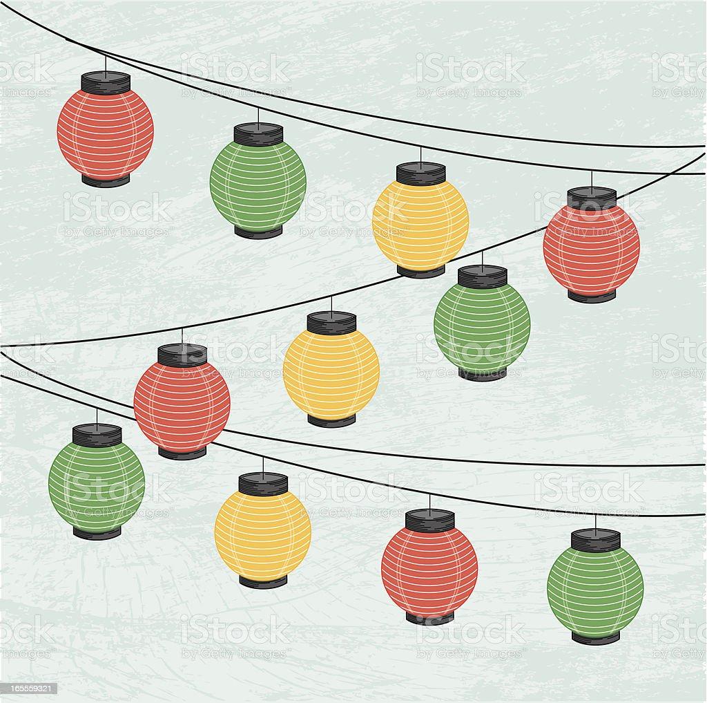 Those Patio Lanterns... royalty-free stock vector art