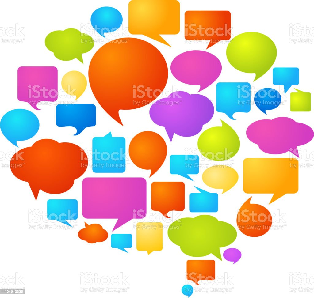 Thought and speech bubbles royalty-free stock vector art