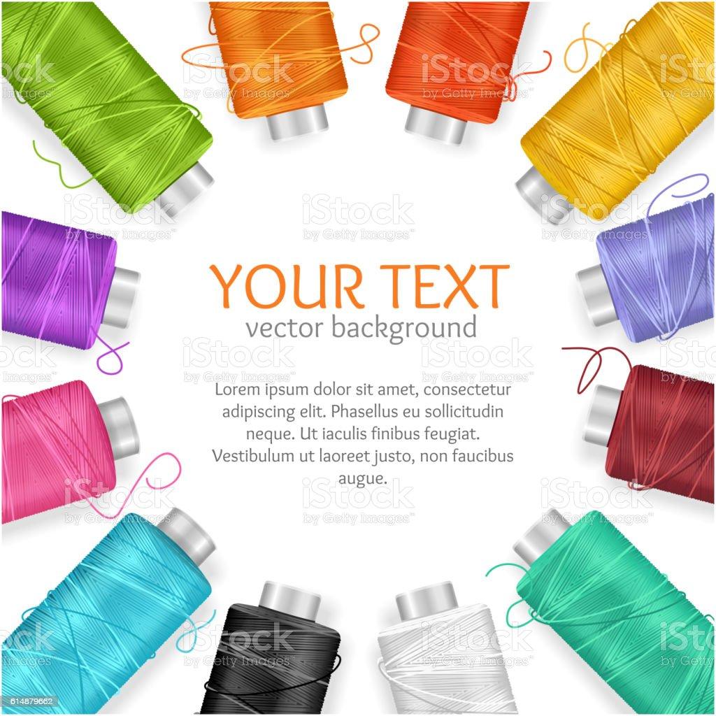 Thread Spool Banner. Vector vector art illustration