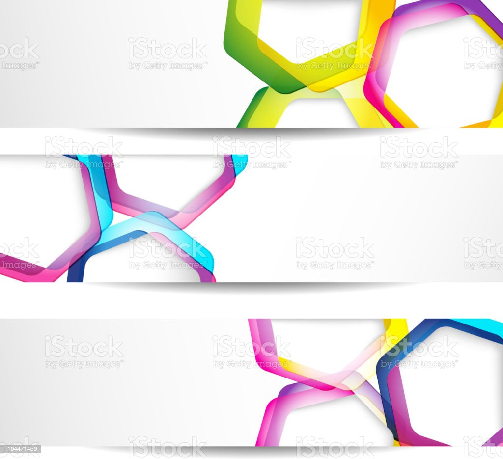 Three abstract banners on a white background royalty-free stock vector art