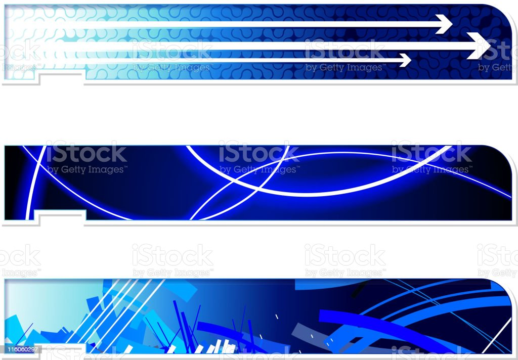 three abstract header footer images royalty-free stock vector art