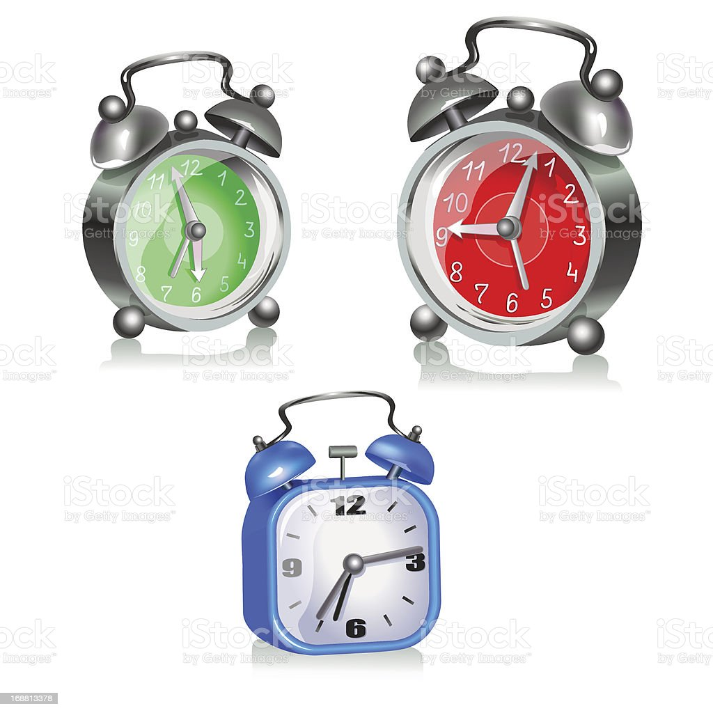 Three alarms royalty-free stock vector art