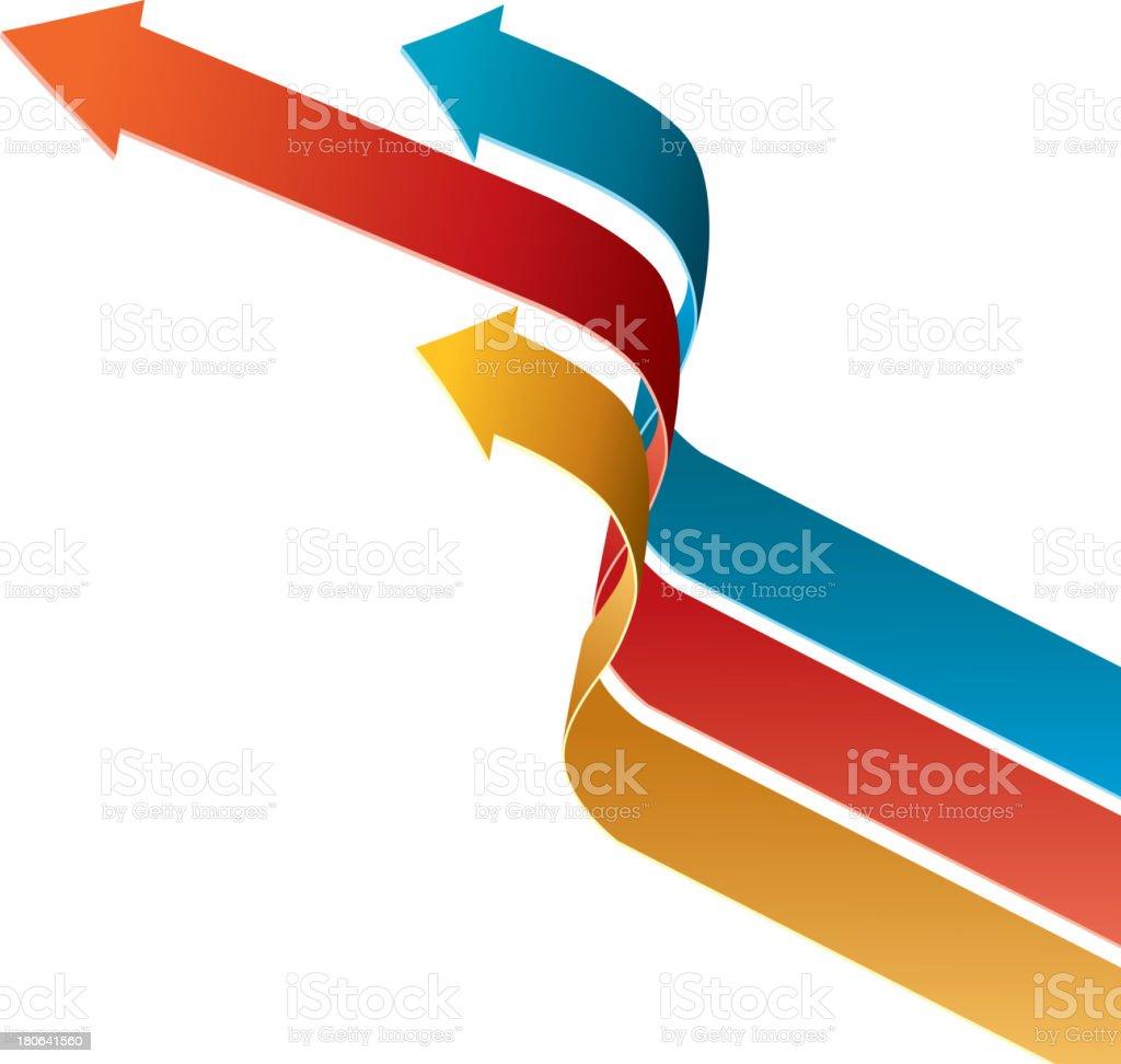 Three arrows growth up royalty-free stock vector art