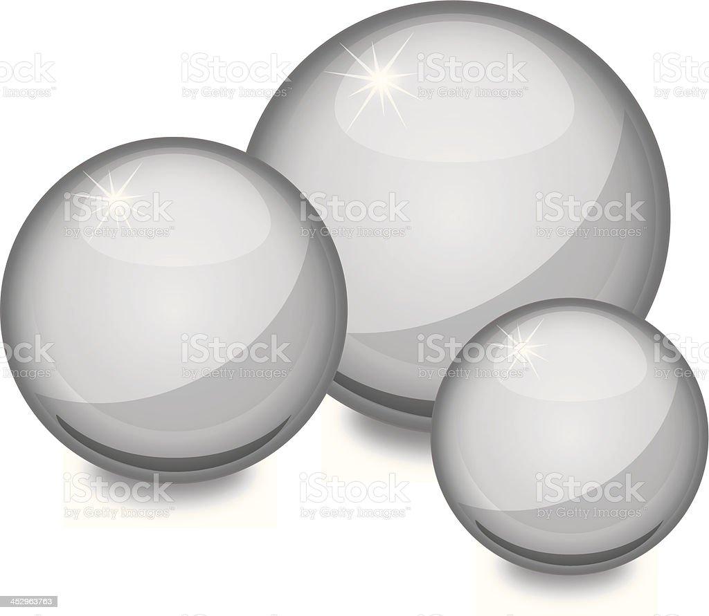 Three Ball Bearings vector art illustration