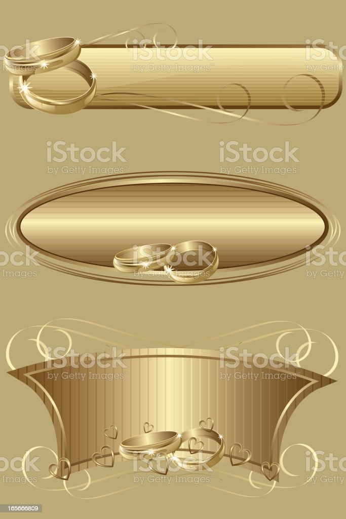 Three Beautiful wedding Banners royalty-free stock vector art