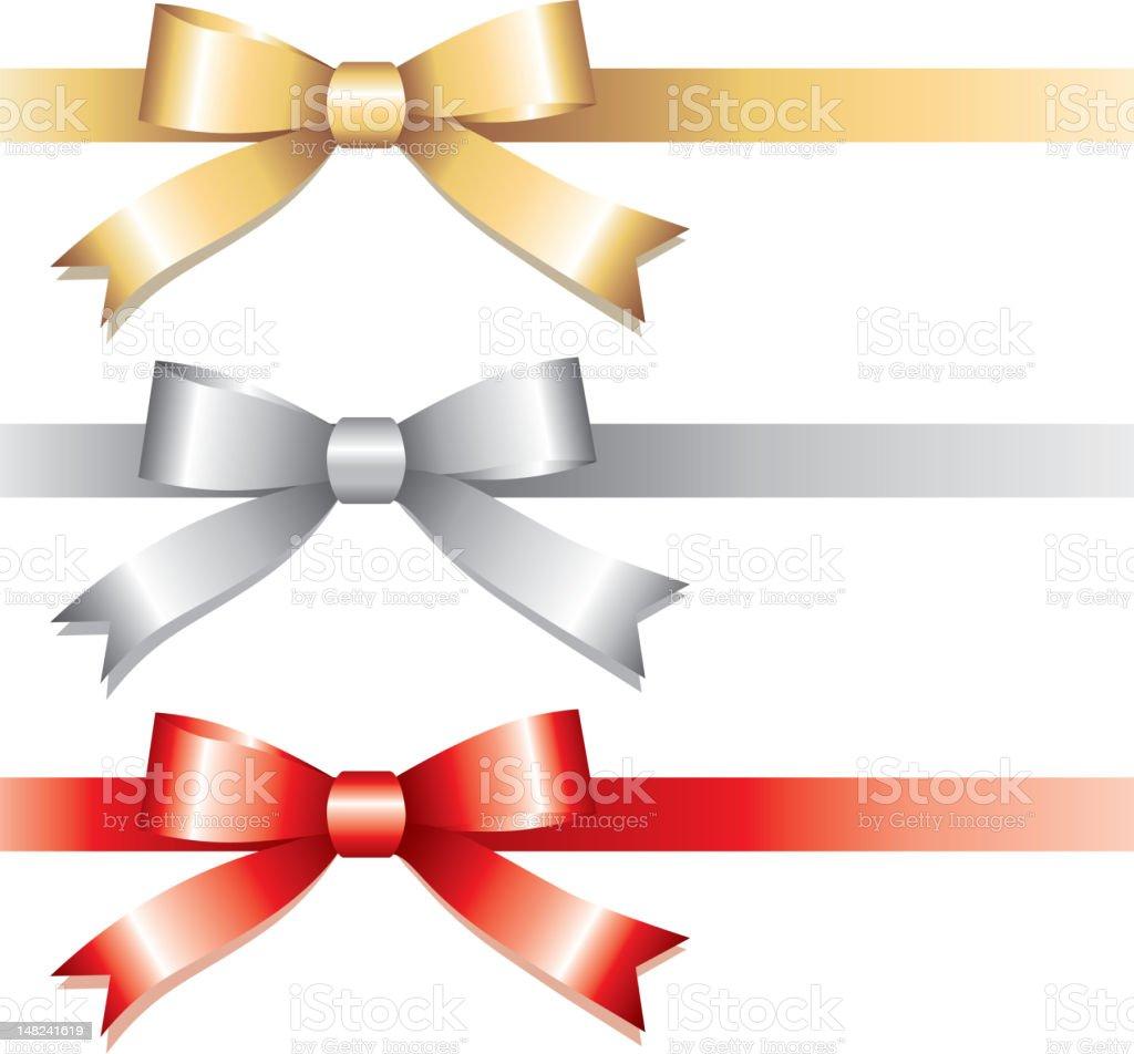 three bows royalty-free stock vector art