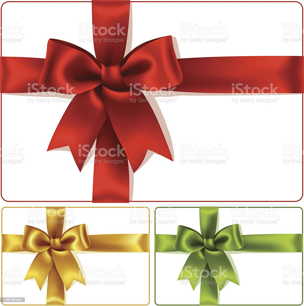 Three box collage of red, yellow, and green box gifts vector art illustration