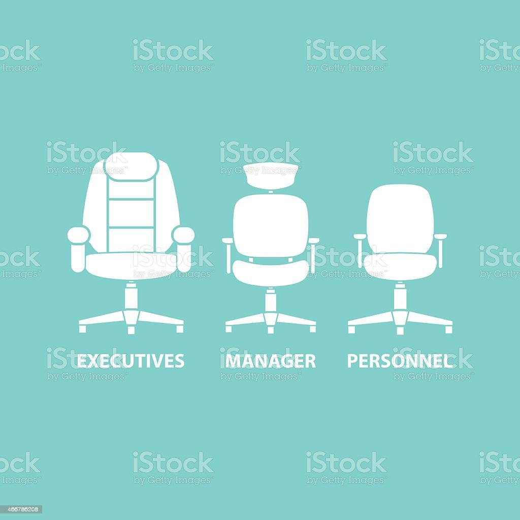 Three changes depicting the hierarchy of a business vector art illustration