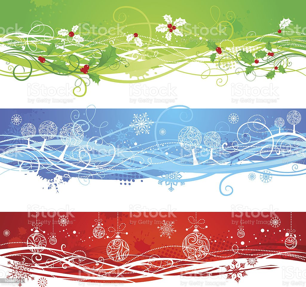 Three Christmas banners royalty-free stock vector art