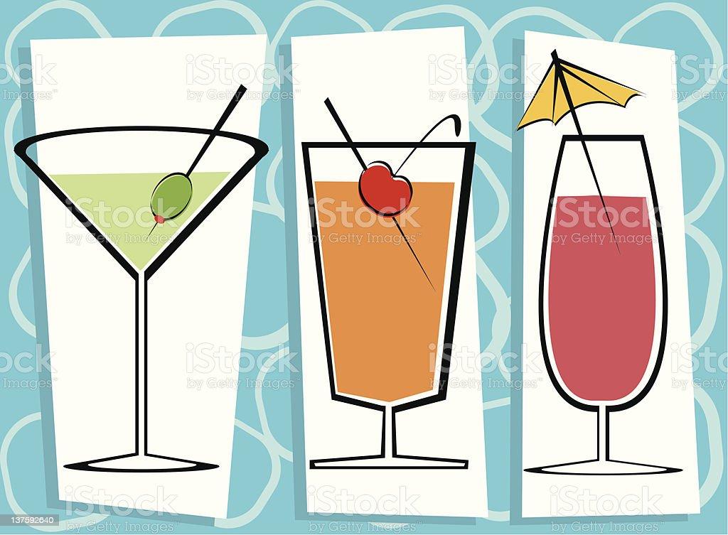 Three cool drinks royalty-free stock vector art