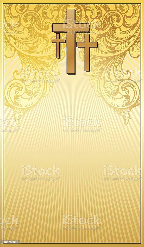 Three Cross Banner vector art illustration