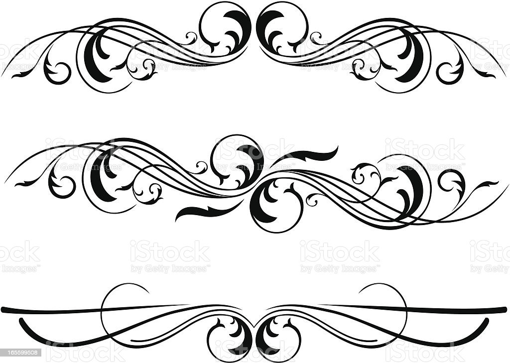 Three different decorative dividers royalty-free stock vector art