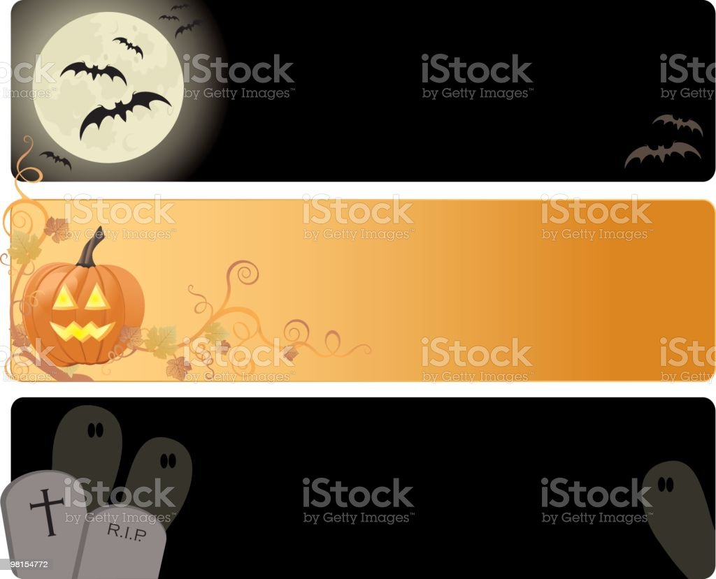Three different Halloween banners royalty-free stock vector art