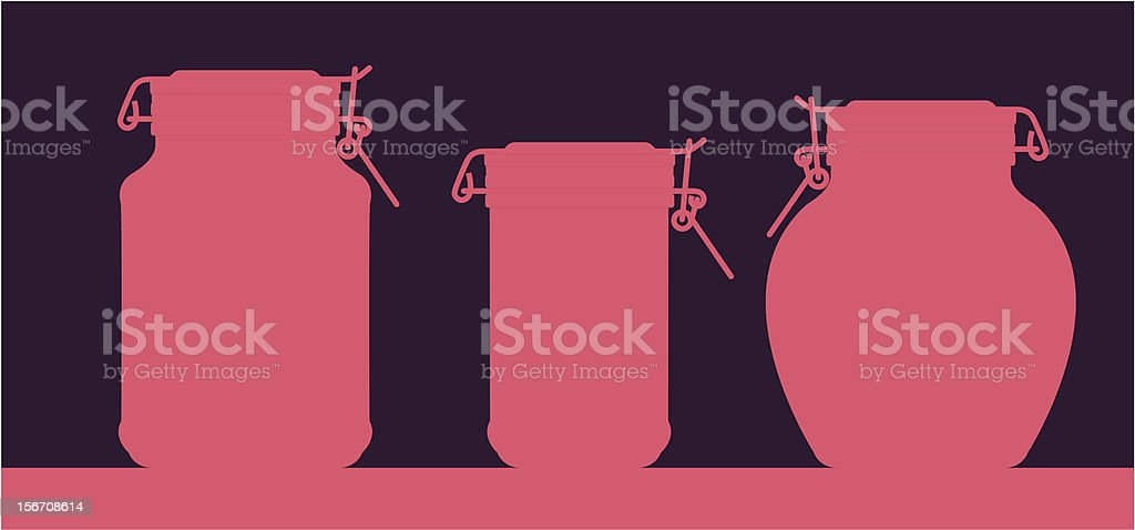 Three different jars royalty-free stock vector art