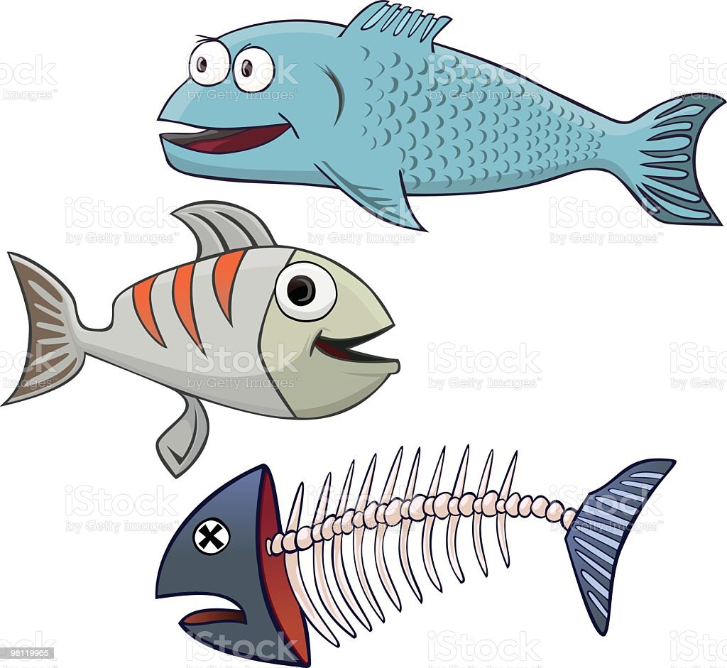 three fish royalty-free stock vector art