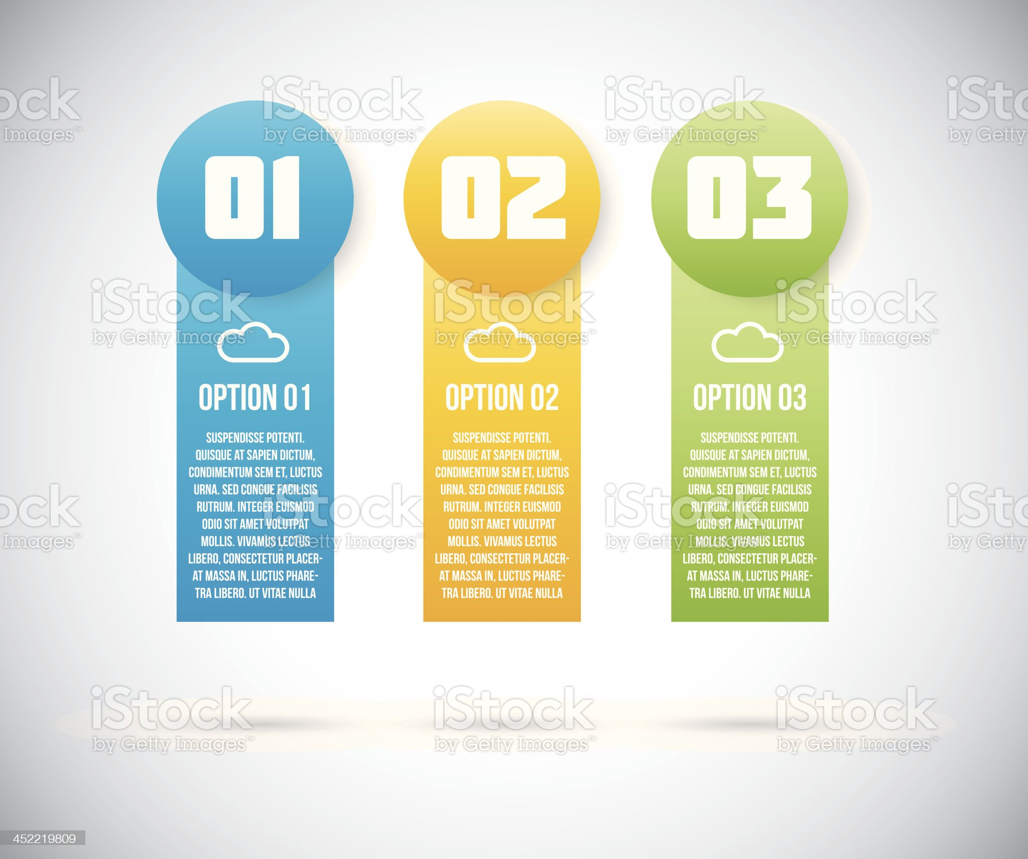 Three infographic option templates vector eps10 royalty-free stock vector art