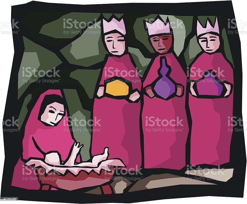 Three Kings royalty-free stock vector art