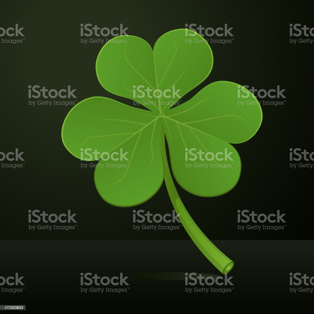 Three leafs clover royalty-free stock vector art
