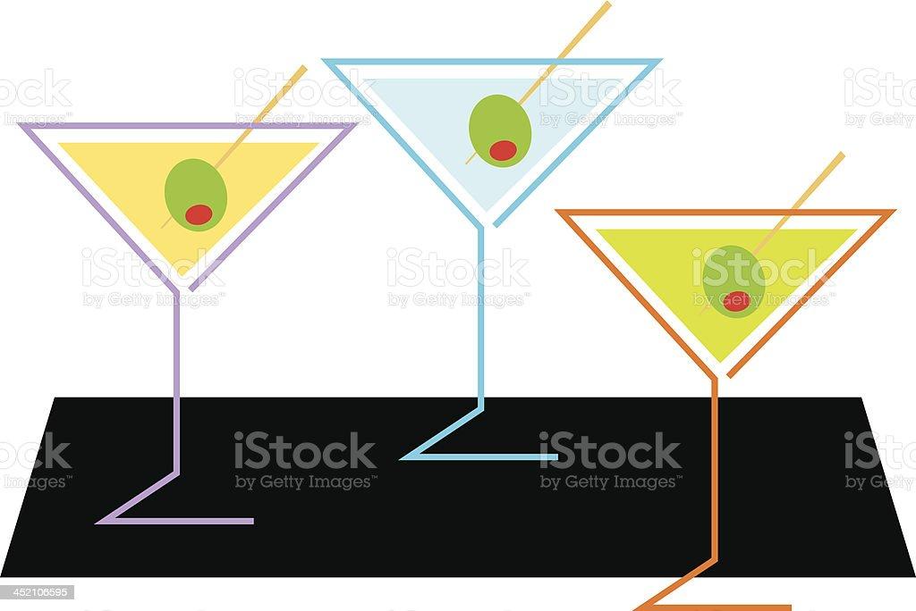 Three Martinis royalty-free stock vector art