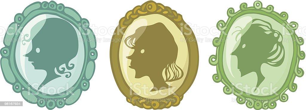 Three Medallions royalty-free stock vector art