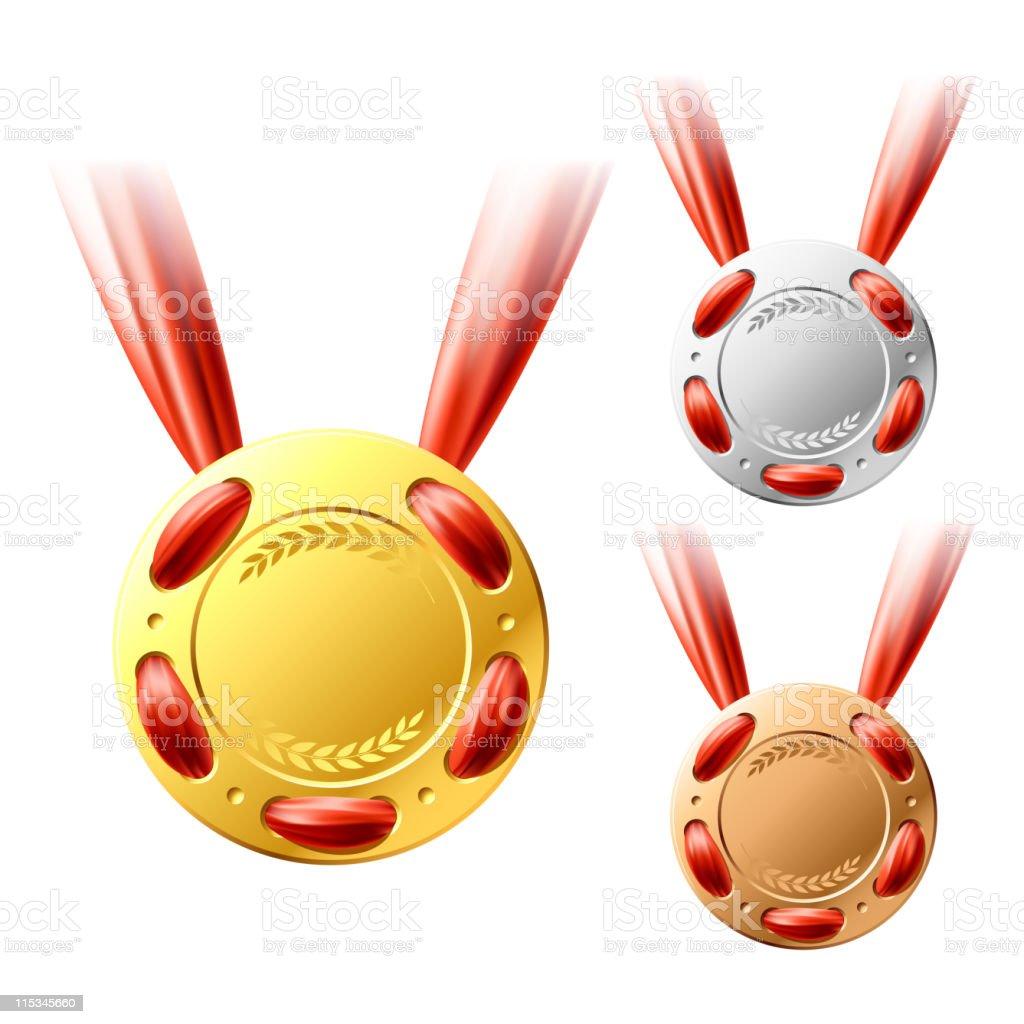 Three medals royalty-free stock vector art