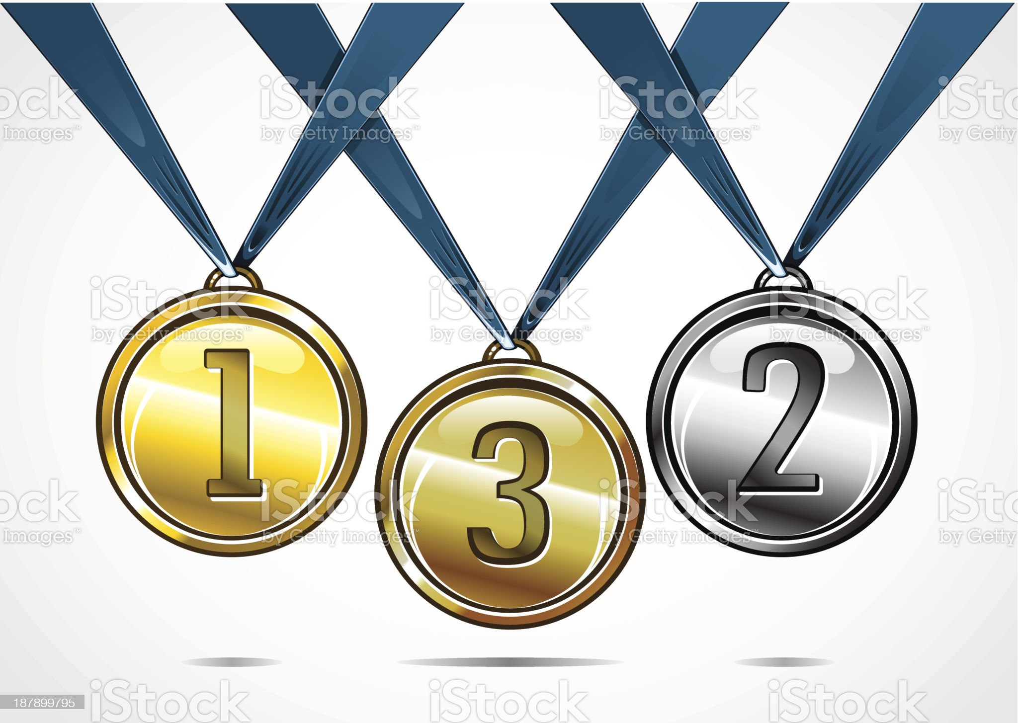 Three medals royalty-free stock vector art