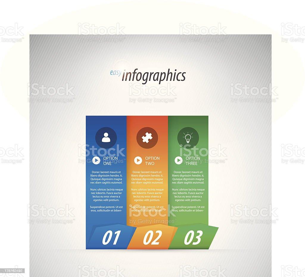 Three options infographics vector illustration eps10 royalty-free stock vector art