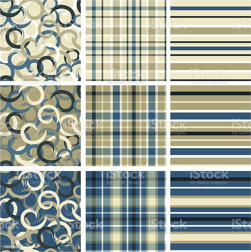Three patterns set royalty-free stock vector art