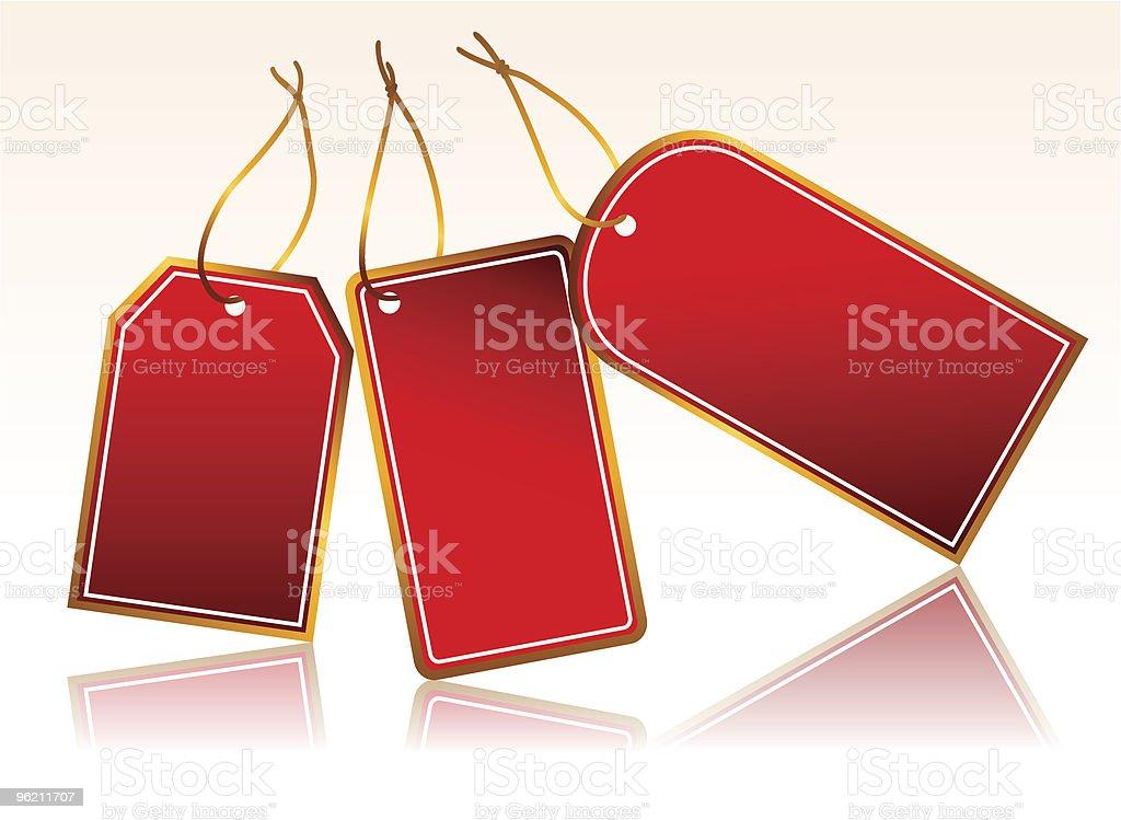 Three red label. Vector illustartion royalty-free stock vector art