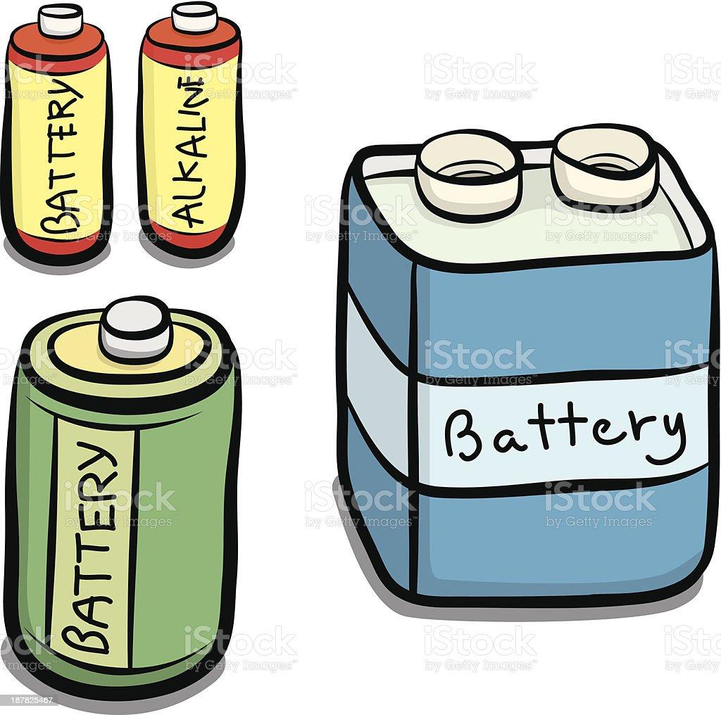 three size battery royalty-free stock vector art