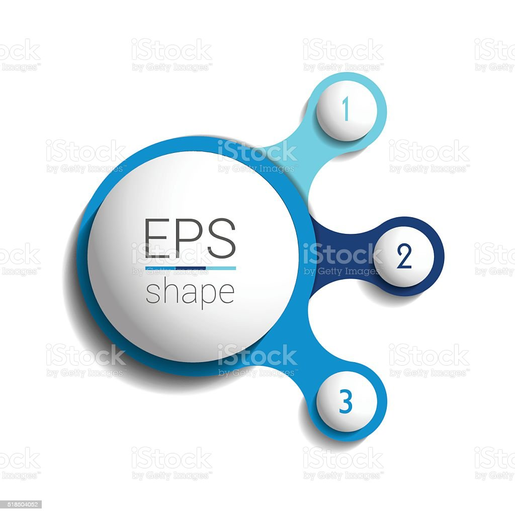 Three steps elements bubble chart, scheme, diagram. Infographic template. vector art illustration