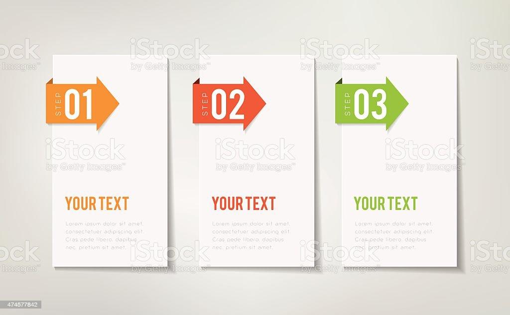 Three Steps Infographics vector art illustration
