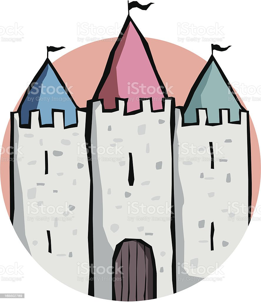 Three Turrets vector art illustration