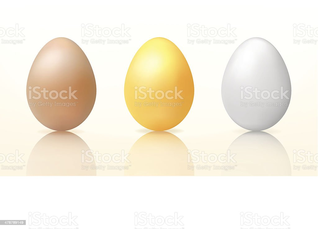 Three vector easter eggs vector art illustration