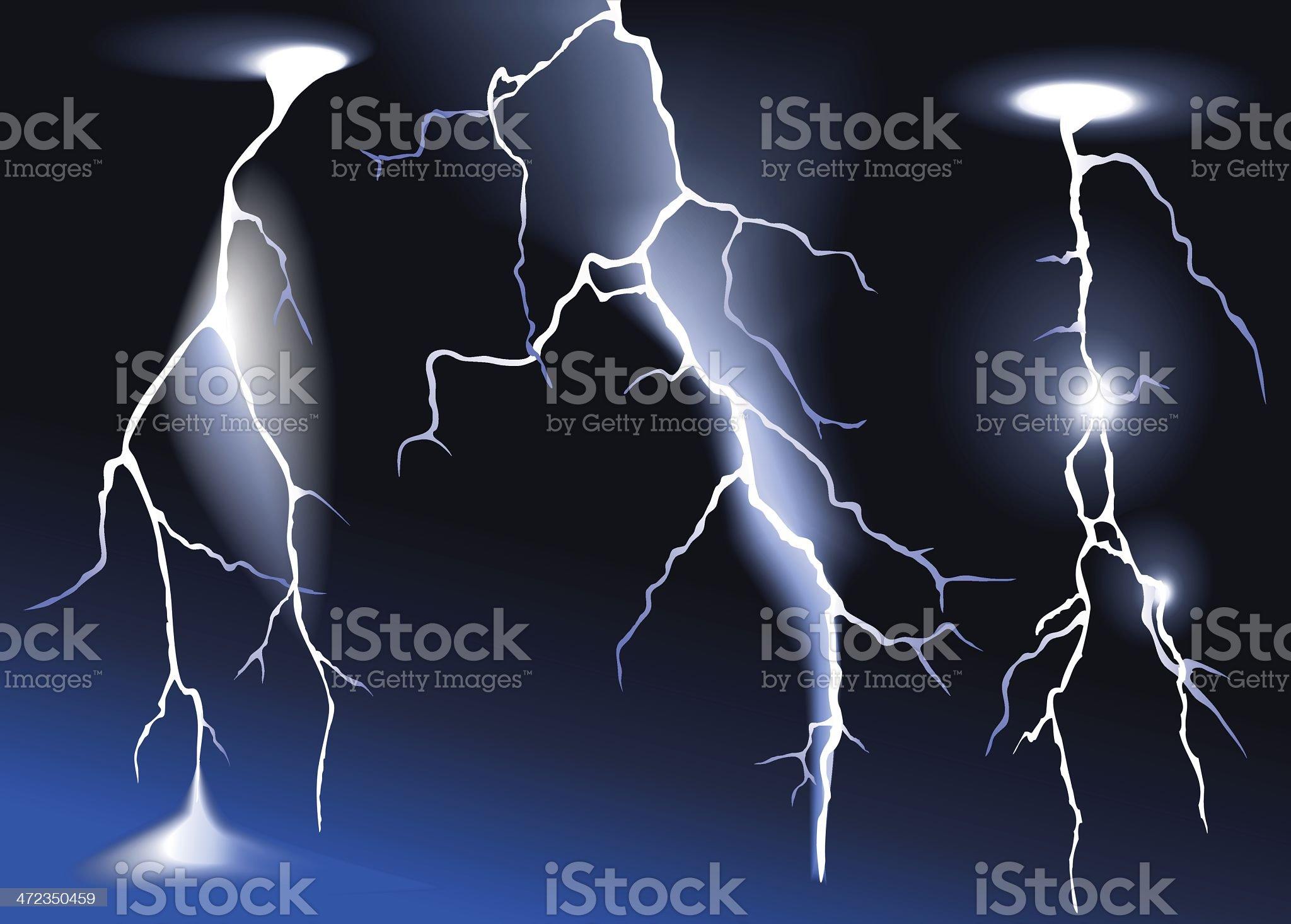 Three vector lightnings royalty-free stock vector art