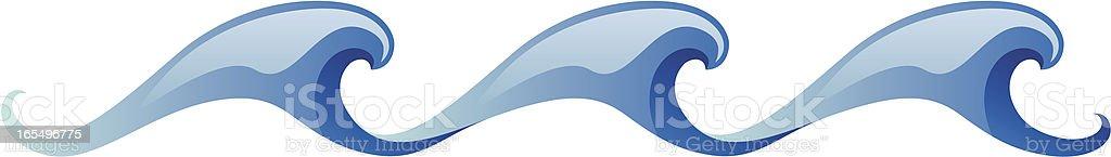Three waves design elements royalty-free stock vector art