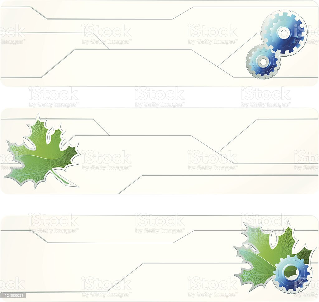 Three white futuristic banners royalty-free stock vector art