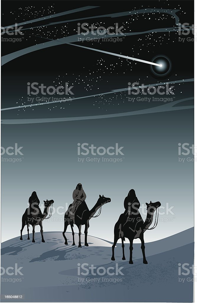 three wise kings royalty-free stock vector art