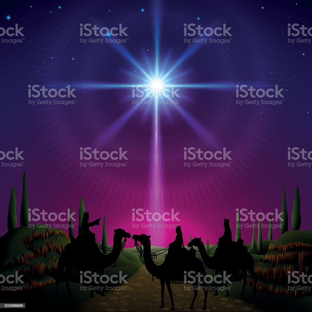 Three Wise Man vector art illustration