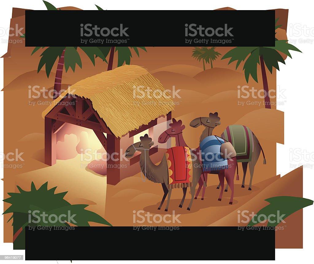 Three Wise Men Christmas Nativity royalty-free stock vector art