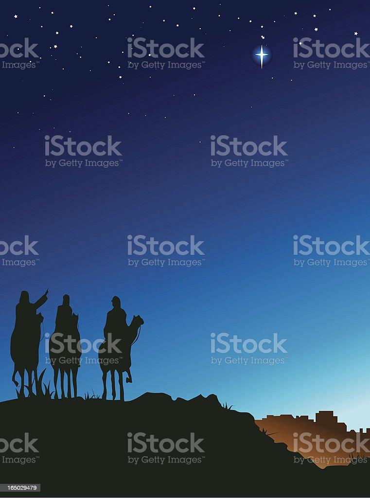 three wise men royalty-free stock vector art