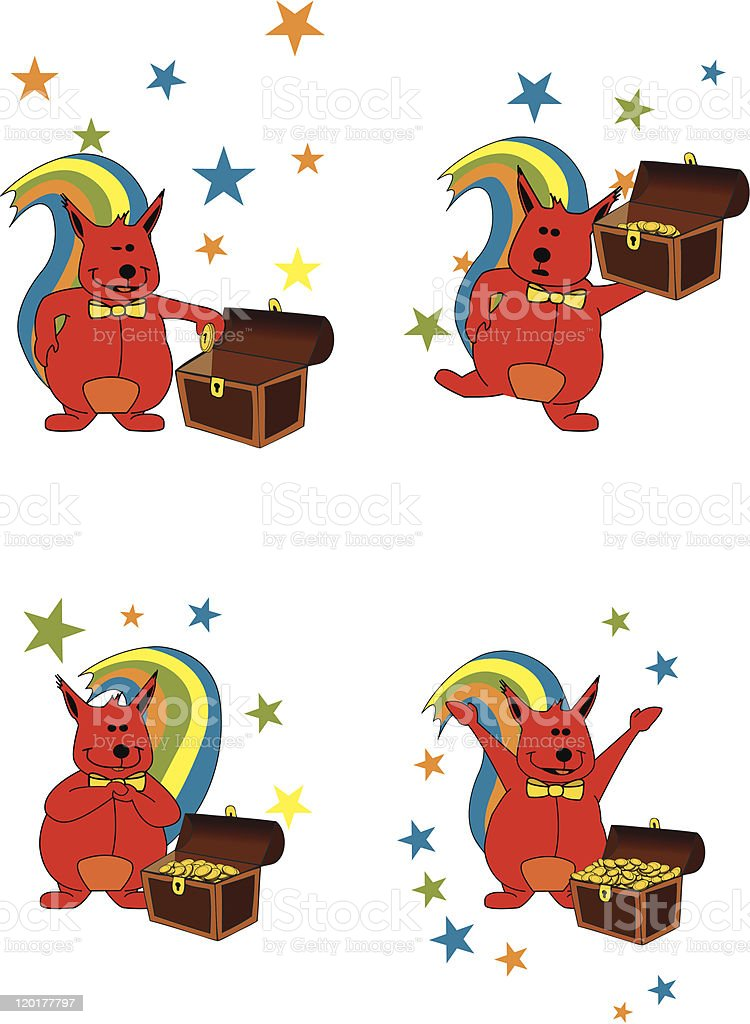 Thrifty squirrel royalty-free stock vector art