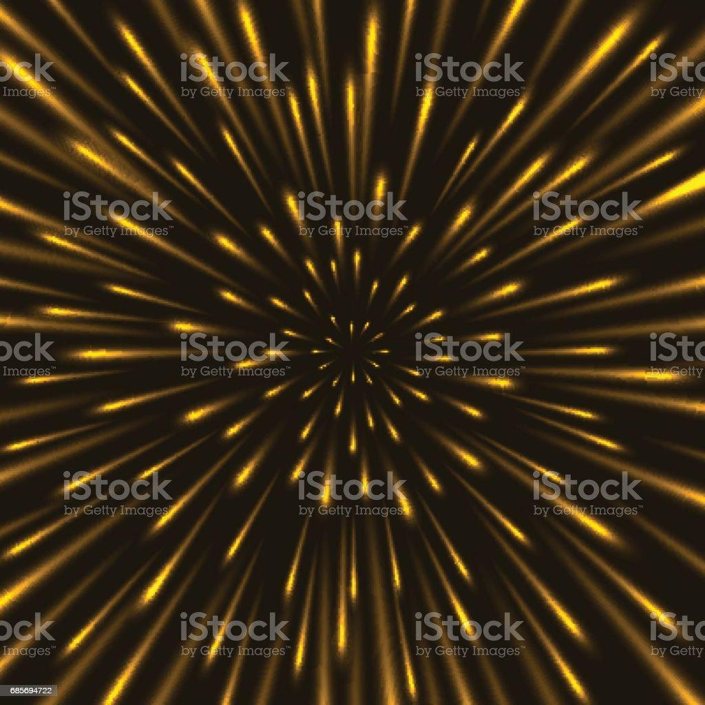 Through the stars at warp speed background vector art illustration
