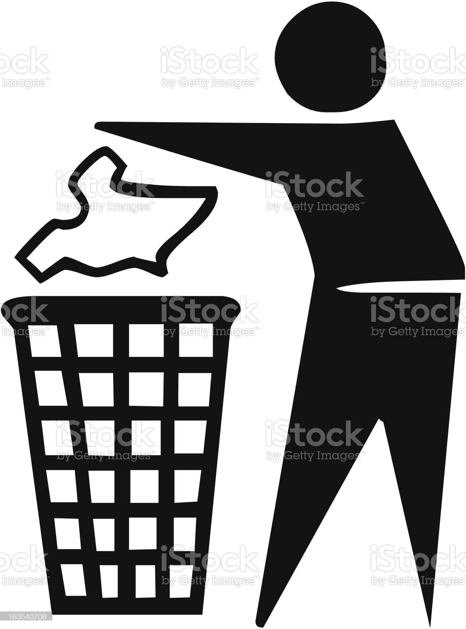 Throw Trash royalty-free stock vector art