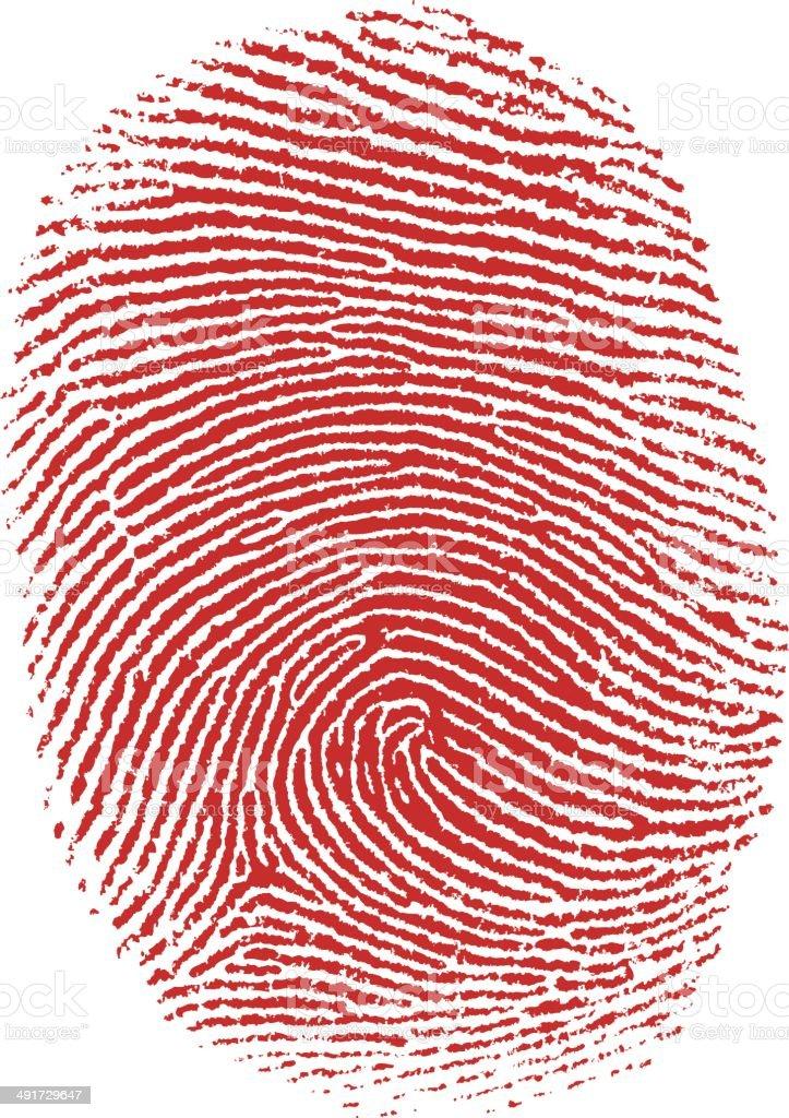 Thumb fingerprint vector art illustration