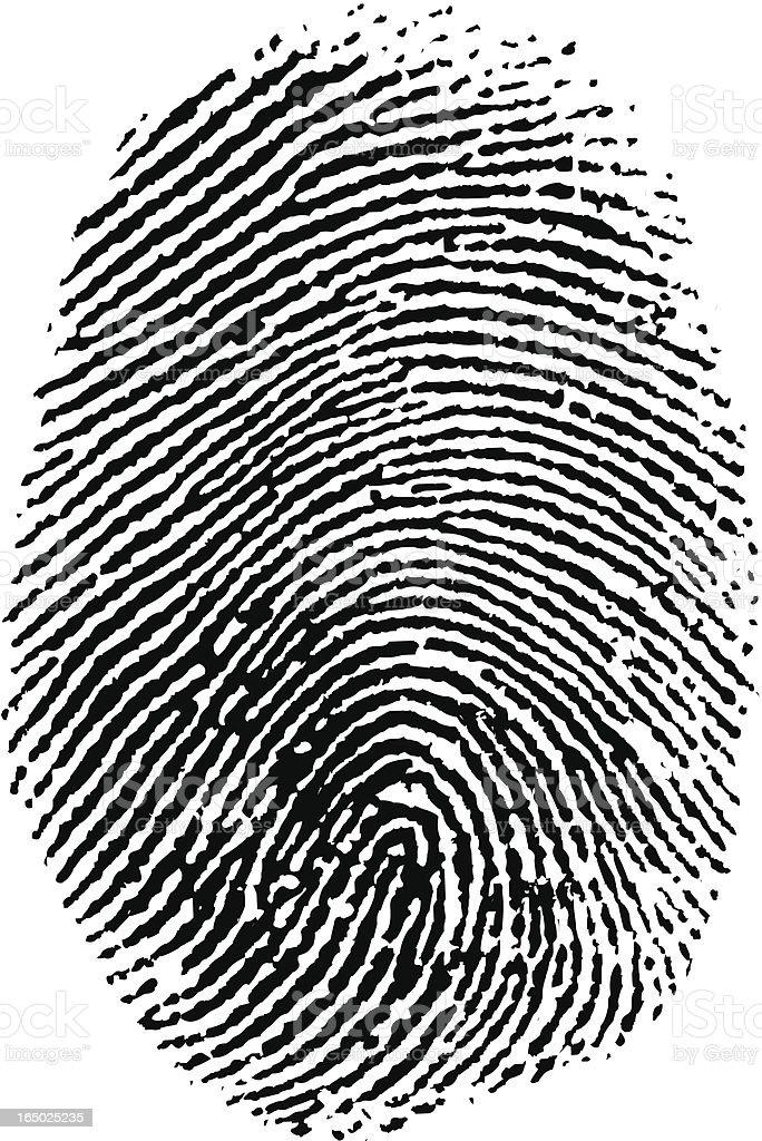 Thumb Print vector art illustration