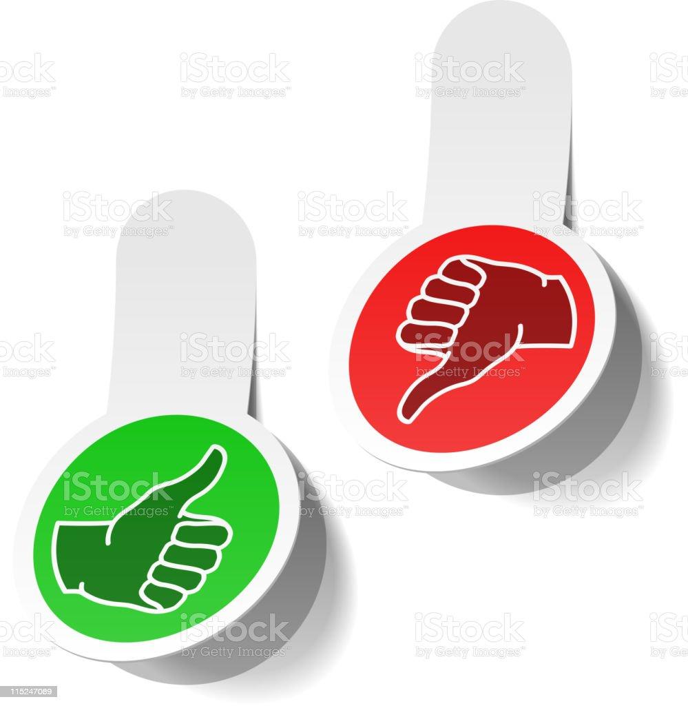 Thumb up and down signs royalty-free stock vector art