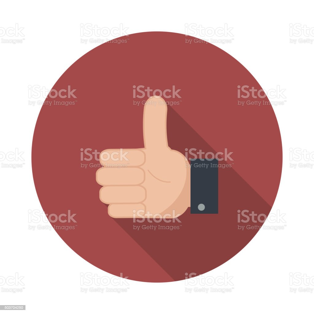 Thumb up icon. vector art illustration