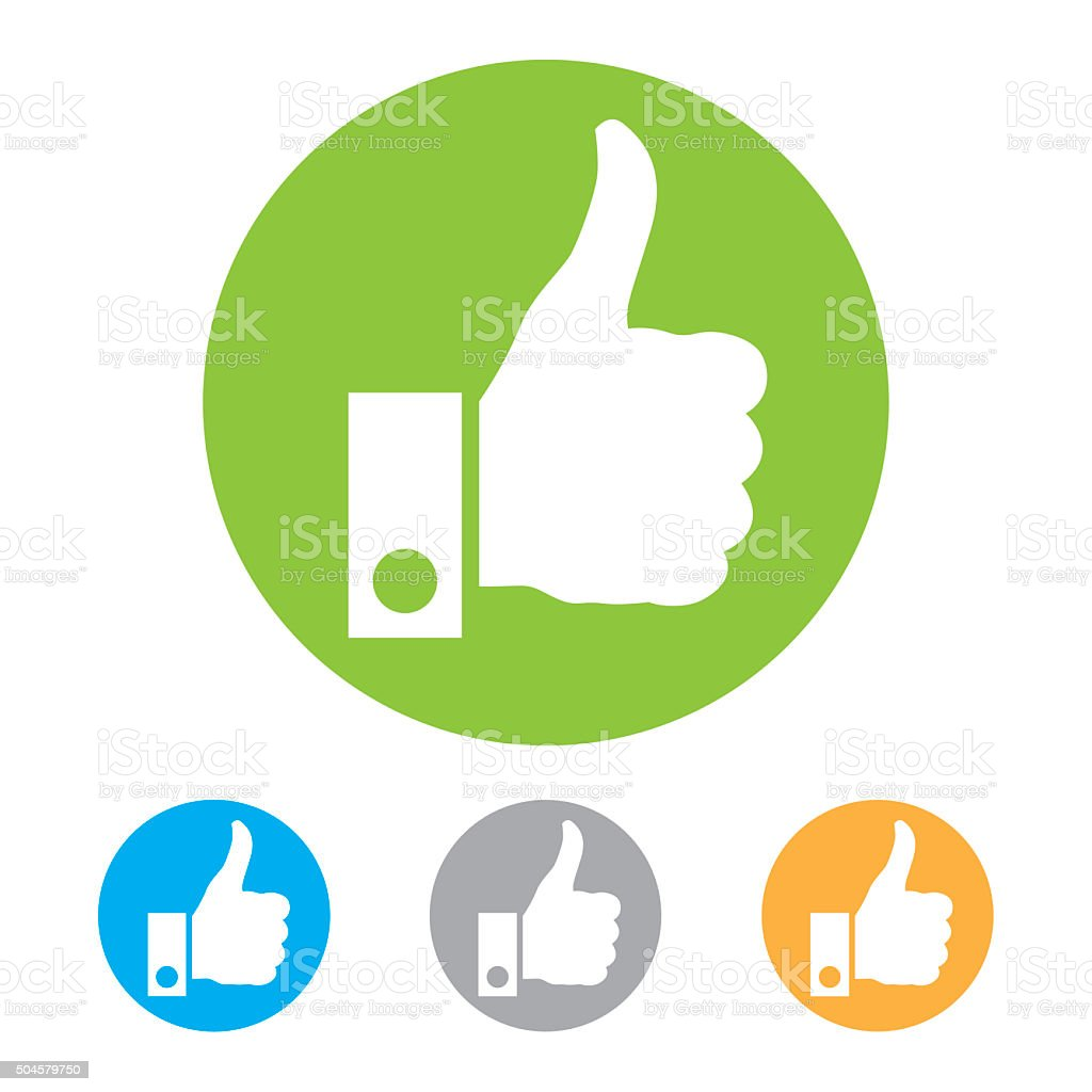 Thumb up icons. vector art illustration