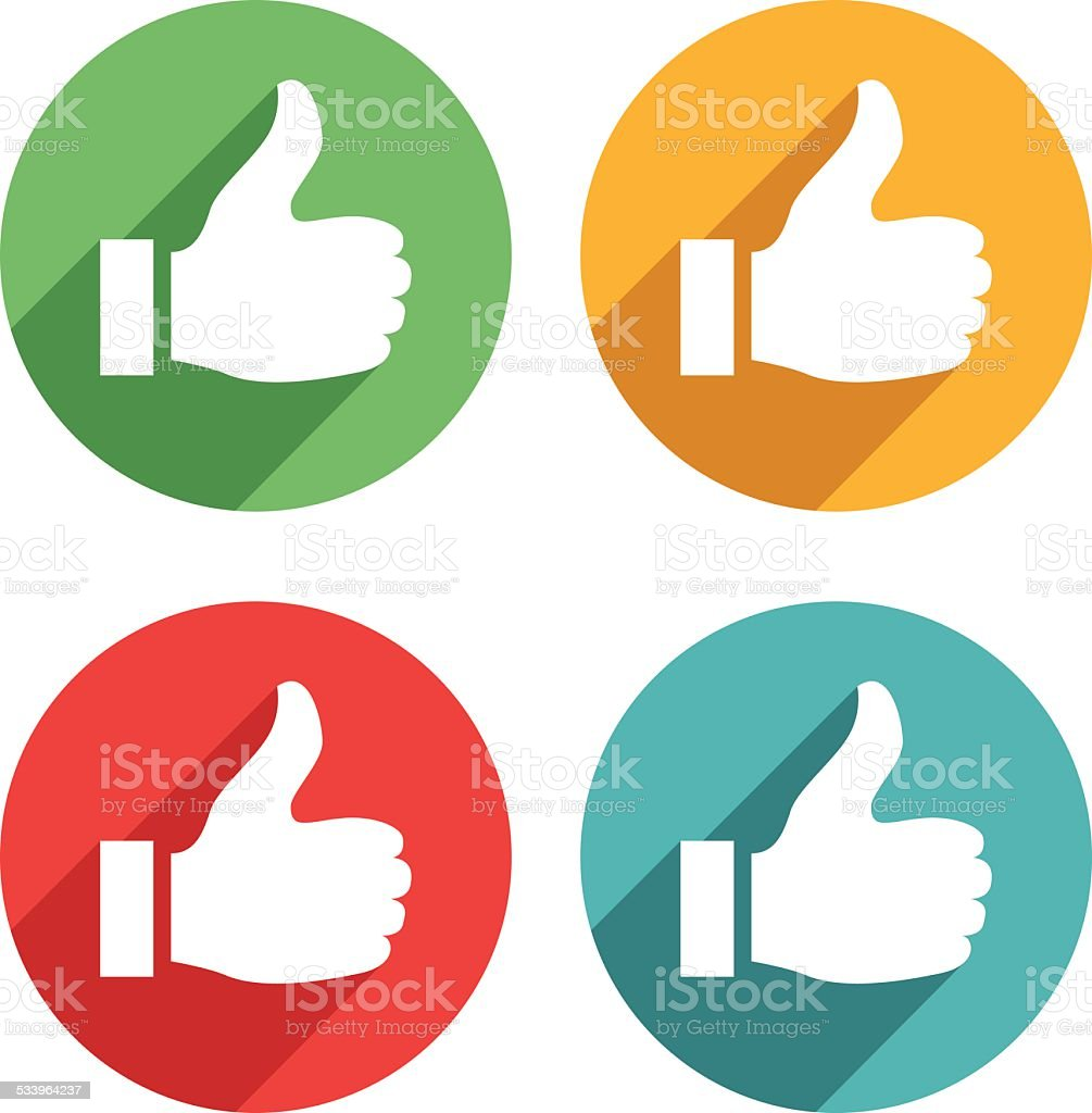 Thumb up icons - VECTOR vector art illustration